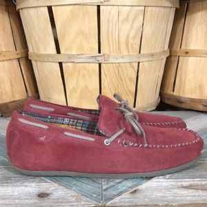 Sperry Suede Flannel Lined Moc Slippers